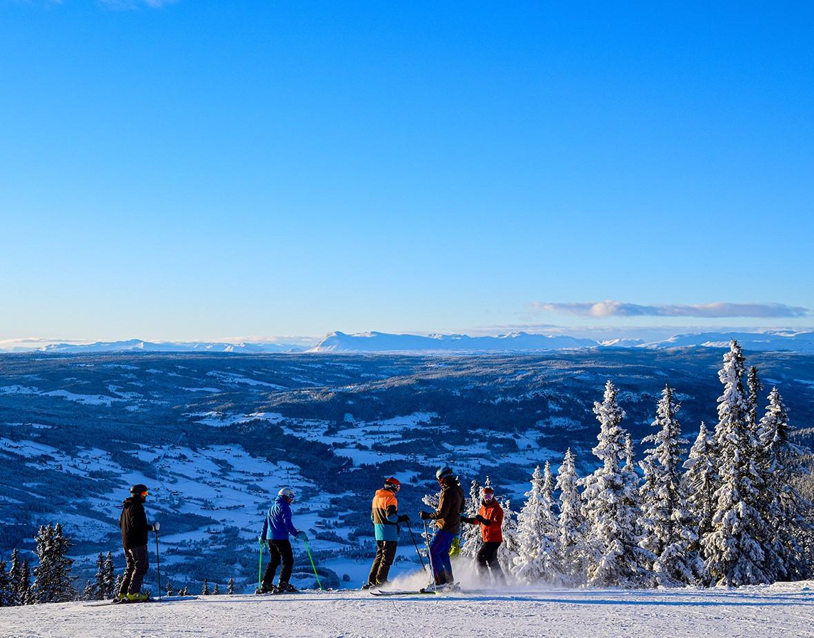 Utsikt fra valdres alpint